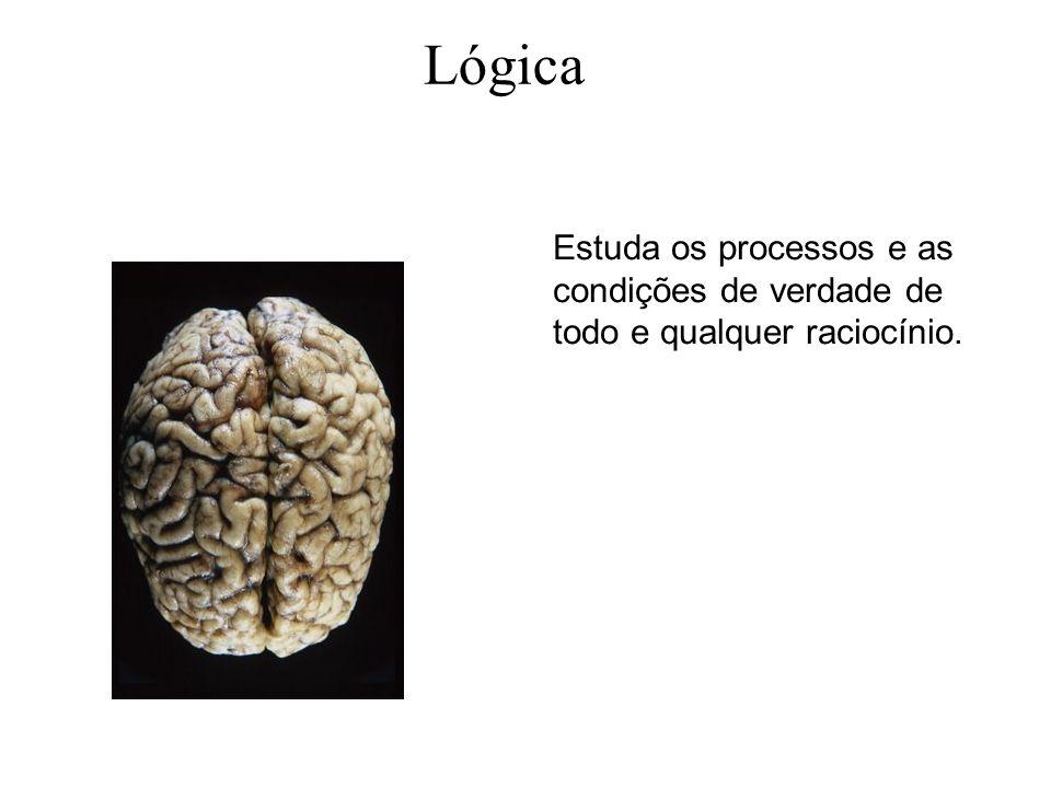 Estuda os processos e as condições de verdade de todo e qualquer raciocínio. Lógica