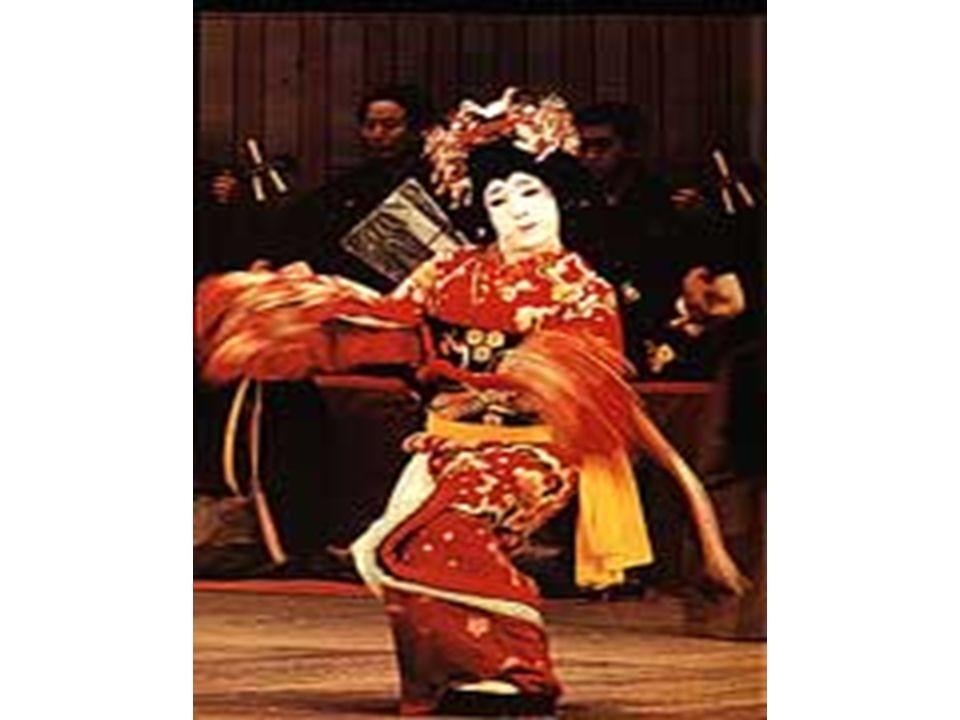 *Danças* A dança tradicional japonesa surgiu na antiguidade como um elemento da cerimônia religiosa e desenvolveu-se no decorrer dos séculos, em íntima relação com vários gêneros de artes vocais e teatrais, constituindo um código moral de respeito e cortesia, assim como uma prática que assume a forma de caminho ou doutrina.