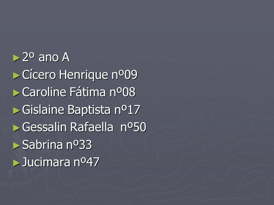 2º ano A 2º ano A Cícero Henrique nº09 Cícero Henrique nº09 Caroline Fátima nº08 Caroline Fátima nº08 Gislaine Baptista nº17 Gislaine Baptista nº17 Ge