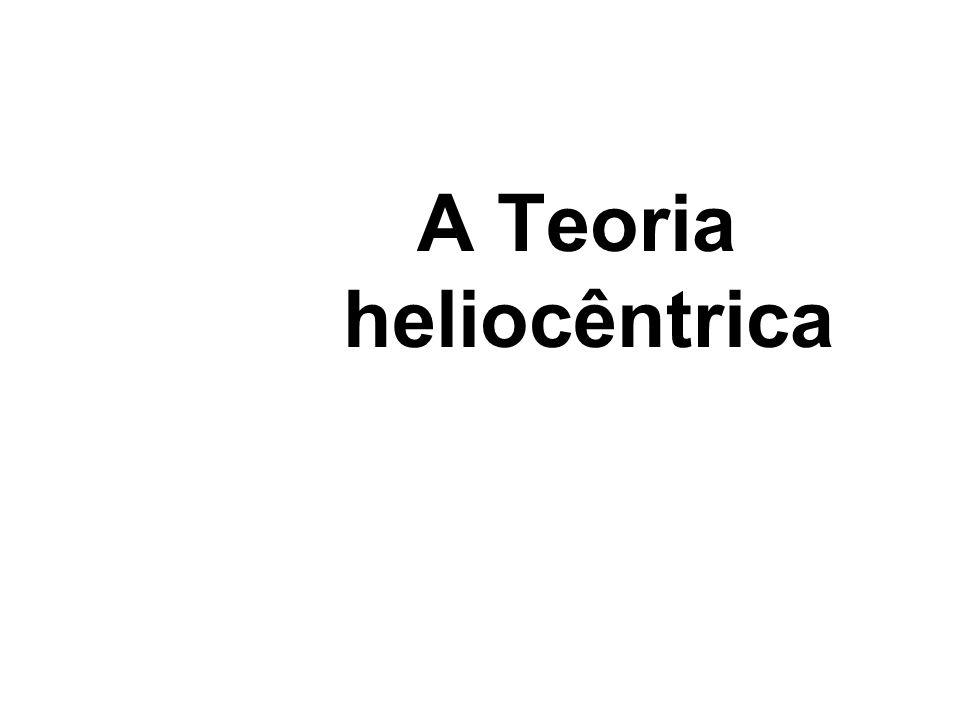 A Teoria Heliocêntrica defende que o Sol é o centro do Universo e que a Terra se move ao seu redor.