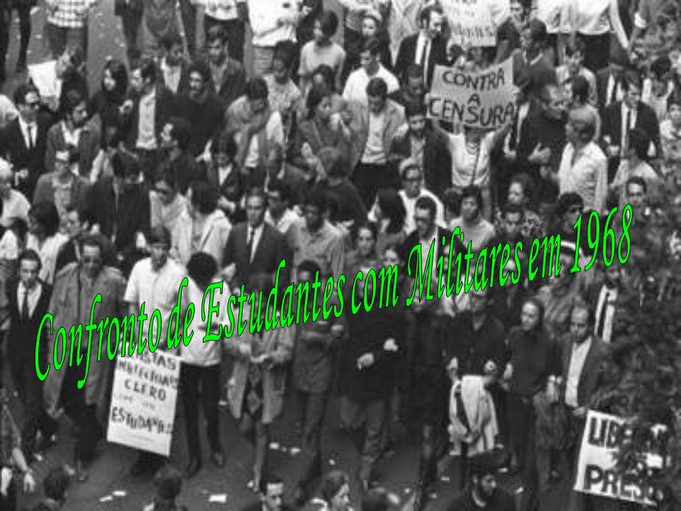 Em maio de 1968, o Brasil vivia a ditadura militar, instaurada em 1964 após o golpe de Estado que destituiu o presidente João Goulart (1961-1964).