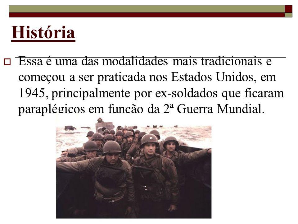 História Essa é uma das modalidades mais tradicionais e começou a ser praticada nos Estados Unidos, em 1945, principalmente por ex-soldados que ficara