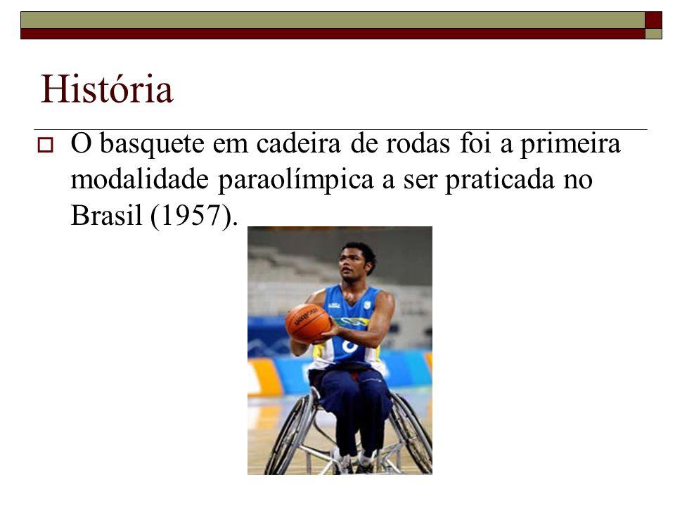 História O basquete em cadeira de rodas foi a primeira modalidade paraolímpica a ser praticada no Brasil (1957).