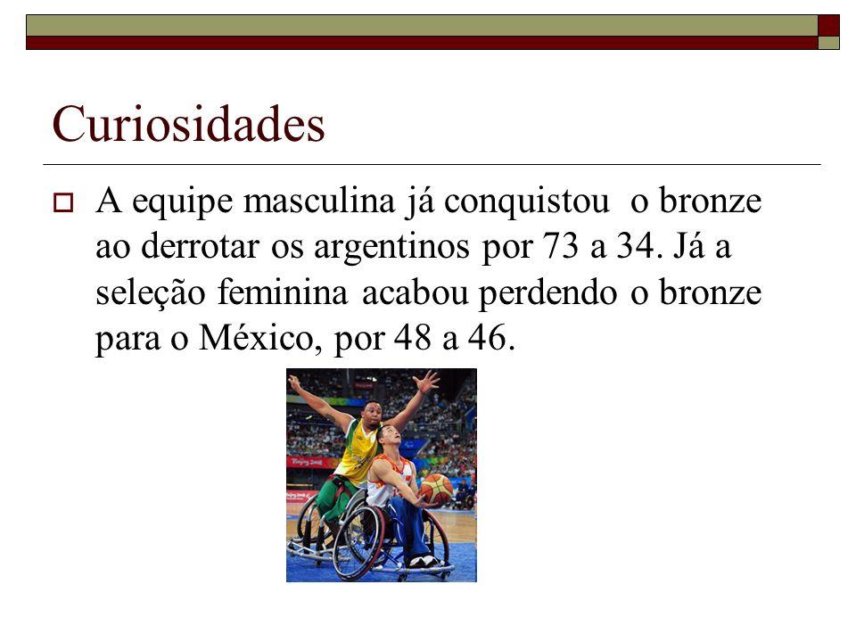 Curiosidades A equipe masculina já conquistou o bronze ao derrotar os argentinos por 73 a 34. Já a seleção feminina acabou perdendo o bronze para o Mé