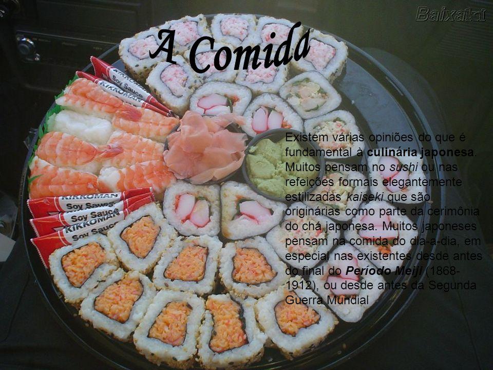 Existem várias opiniões do que é fundamental à culinária japonesa. Muitos pensam no sushi ou nas refeições formais elegantemente estilizadas kaiseki q