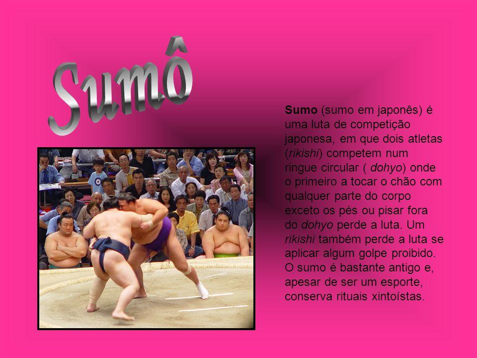 Sumo (sumo em japonês) é uma luta de competição japonesa, em que dois atletas (rikishi) competem num ringue circular ( dohyo) onde o primeiro a tocar