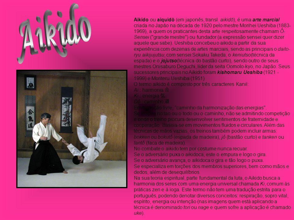 Aikido ou aiquidô (em japonês, transl. aikidō), é uma arte marcial criada no Japâo na década de 1920 pelo mestre Morihei Ueshiba (1883- 1969), a quem