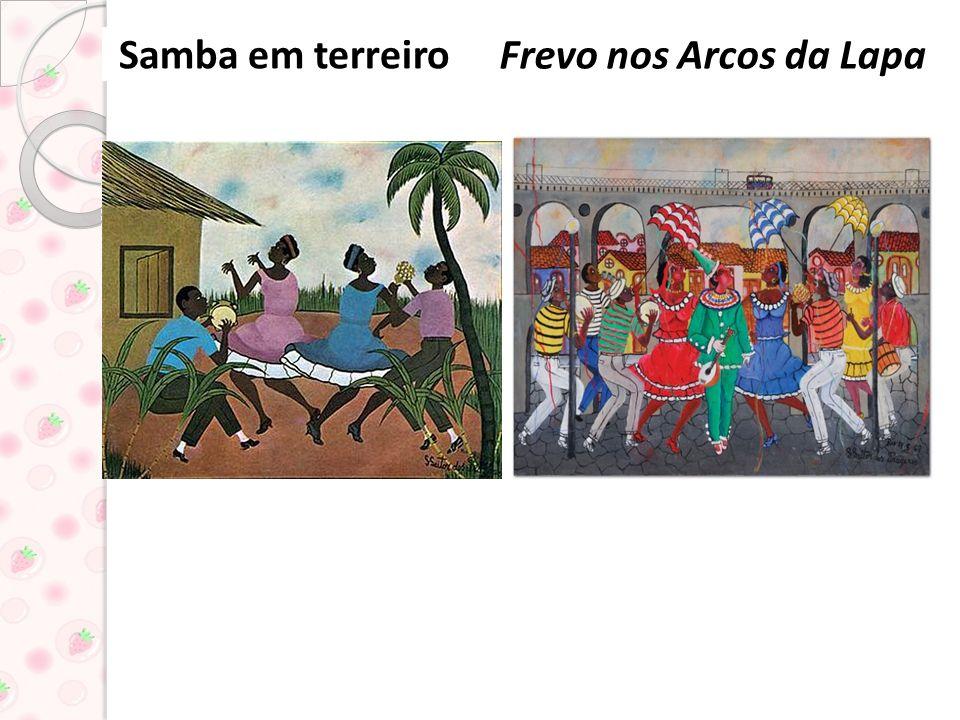 Algumas obras de Heitor dos prazeres Roda de samba Jogando capoeira