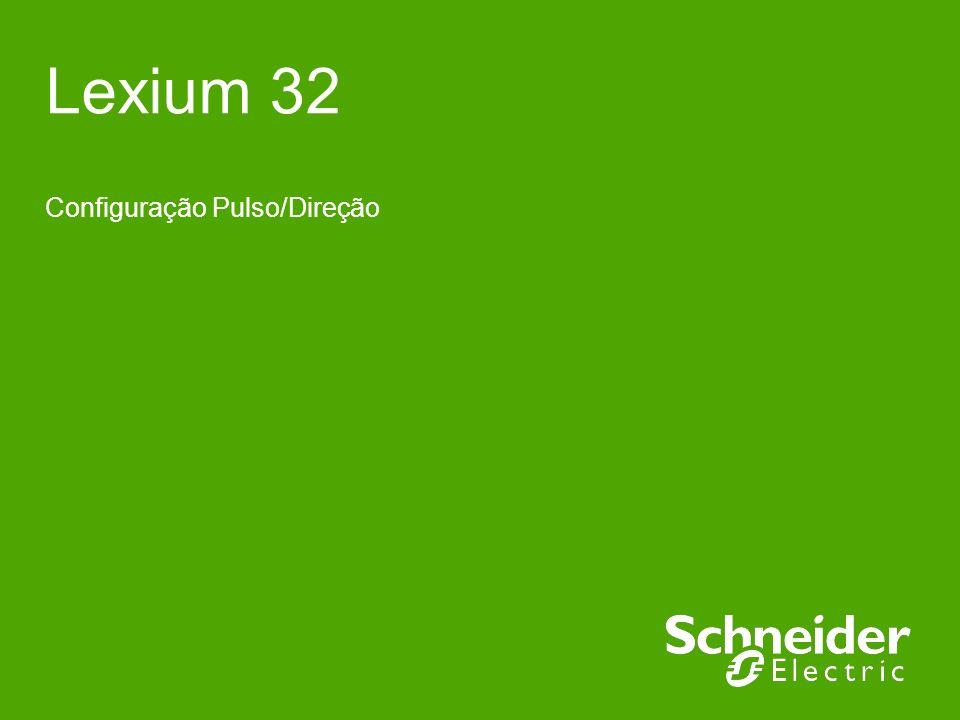 Schneider Electric 2 - Suporte Técnico – Fernando Pereira Mendes – 24/06/2011 Função Função disponível somente nas versões do LXM32M (Modular) e LXM32C (Compacto) As entradas PULSE, DIR e ENABLE para esta conexão são especificadas para trabalhar em 5Vcc e/ou 24Vcc.