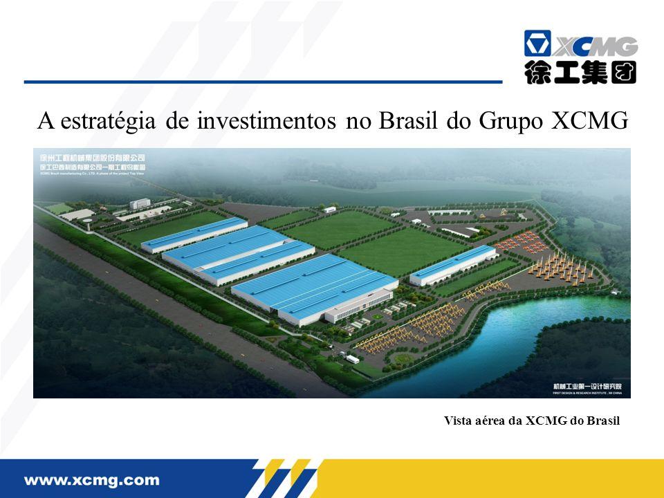 O planejamento de fábrica da XCMG do Brasil A sede da XCMG do Brasil, situa-se na cidade mineira de Pouso Alegre, com área total de 1 milhão de m².