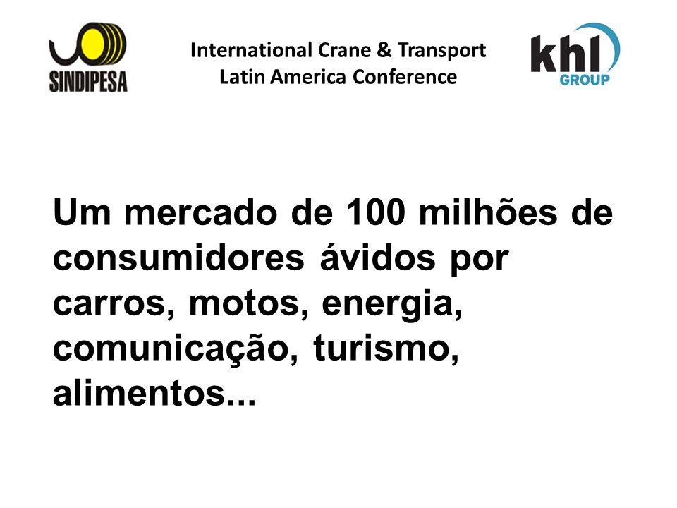 International Crane & Transport Latin America Conference FÁBRICA DE FERTILIZANTES DA PETROBRAS Um mercado de 100 milhões de consumidores ávidos por ca