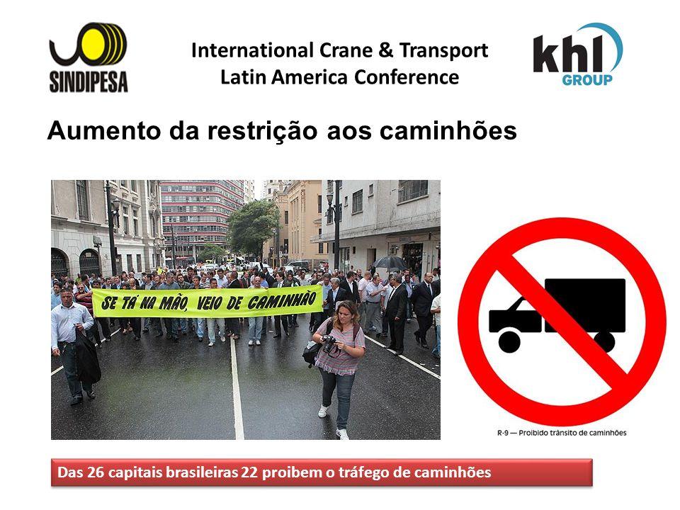 International Crane & Transport Latin America Conference FÁBRICA DE FERTILIZANTES DA PETROBRAS Aumento da restrição aos caminhões Das 26 capitais bras