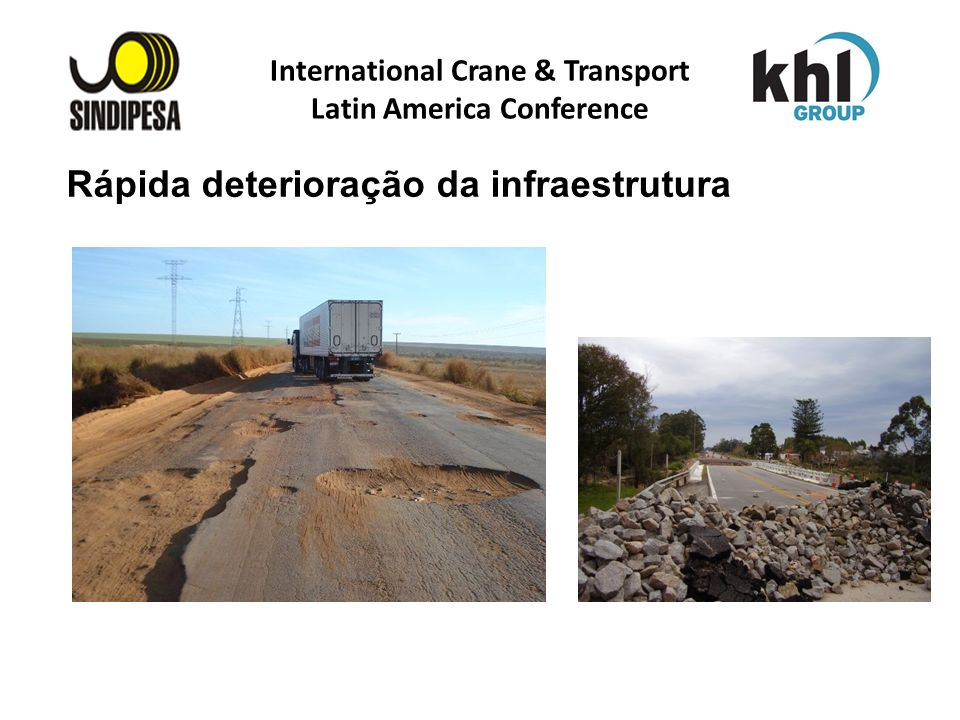 International Crane & Transport Latin America Conference FÁBRICA DE FERTILIZANTES DA PETROBRAS Rápida deterioração da infraestrutura