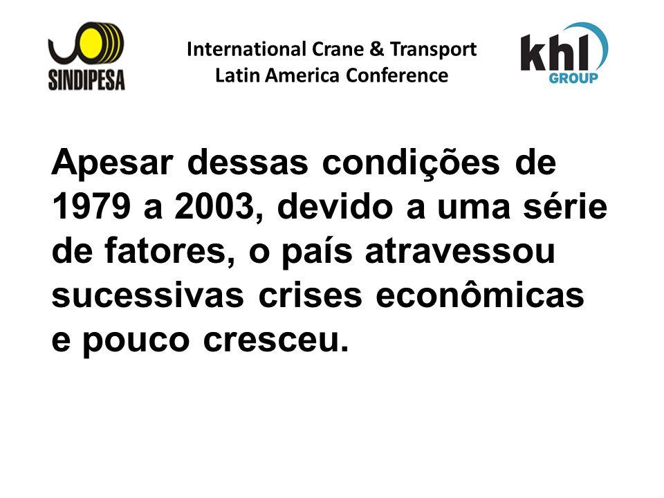 International Crane & Transport Latin America Conference FÁBRICA DE FERTILIZANTES DA PETROBRAS Apesar dessas condições de 1979 a 2003, devido a uma sé