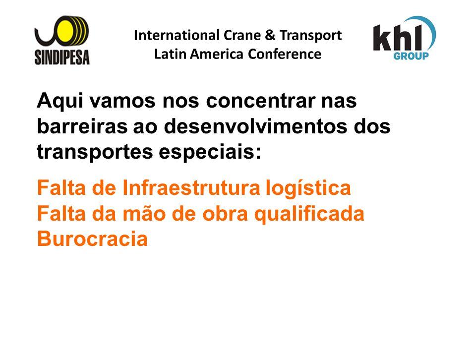 International Crane & Transport Latin America Conference FÁBRICA DE FERTILIZANTES DA PETROBRAS Aqui vamos nos concentrar nas barreiras ao desenvolvime