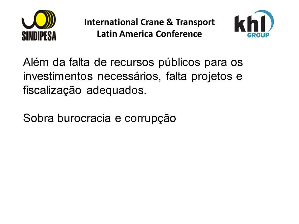 International Crane & Transport Latin America Conference FÁBRICA DE FERTILIZANTES DA PETROBRAS Além da falta de recursos públicos para os investimento