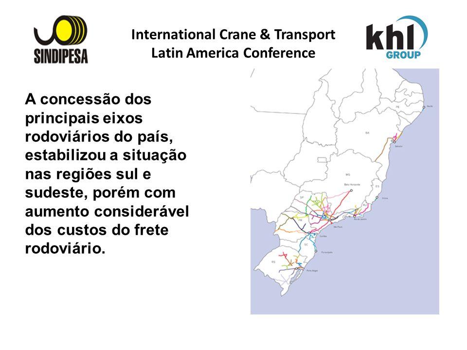 International Crane & Transport Latin America Conference FÁBRICA DE FERTILIZANTES DA PETROBRAS A concessão dos principais eixos rodoviários do país, e