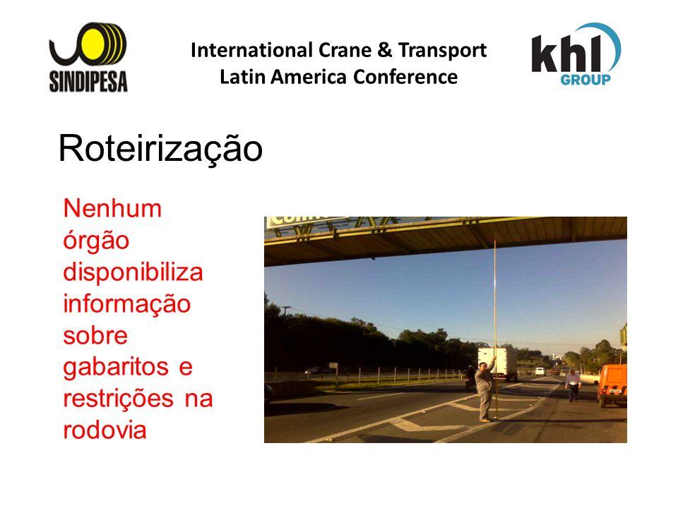 International Crane & Transport Latin America Conference FÁBRICA DE FERTILIZANTES DA PETROBRAS Nenhum órgão disponibiliza informação sobre gabaritos e