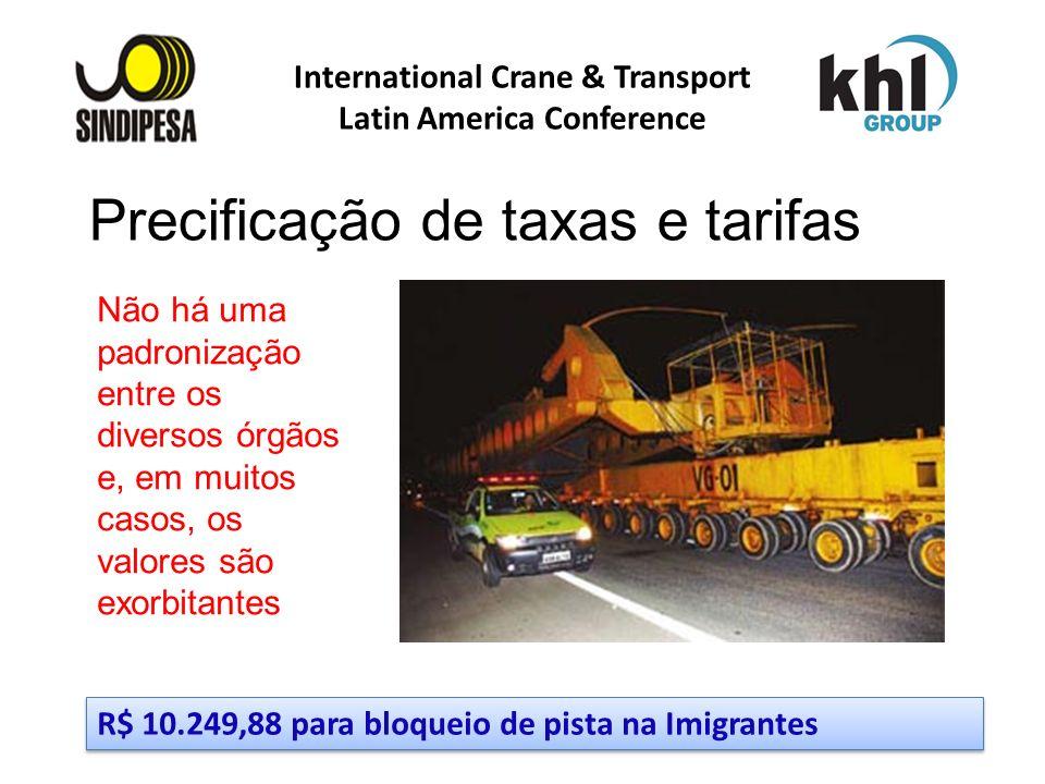 International Crane & Transport Latin America Conference FÁBRICA DE FERTILIZANTES DA PETROBRAS Não há uma padronização entre os diversos órgãos e, em