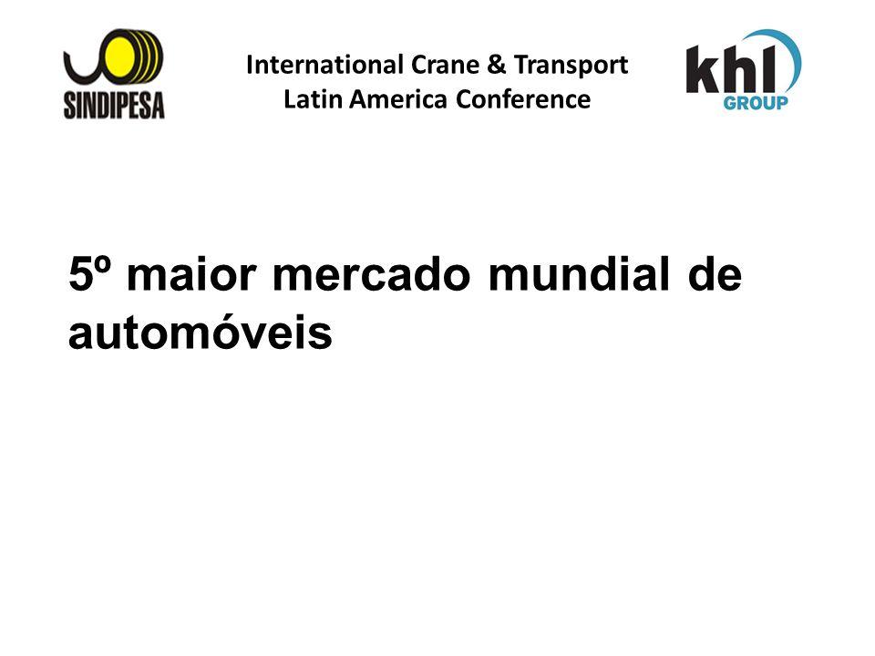 International Crane & Transport Latin America Conference FÁBRICA DE FERTILIZANTES DA PETROBRAS 5º maior mercado mundial de automóveis