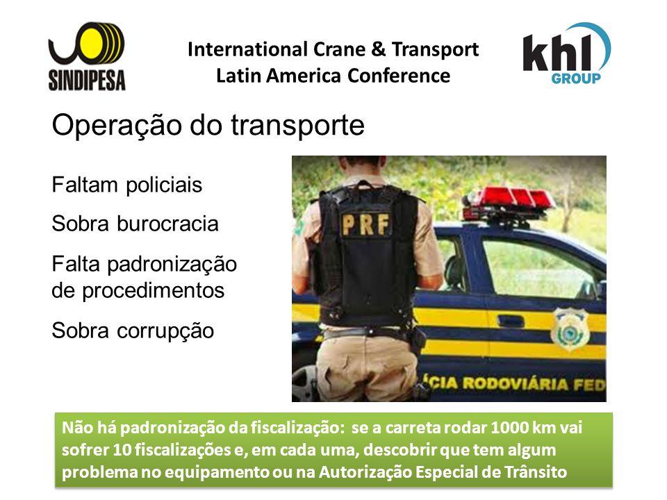 International Crane & Transport Latin America Conference FÁBRICA DE FERTILIZANTES DA PETROBRAS Faltam policiais Sobra burocracia Falta padronização de