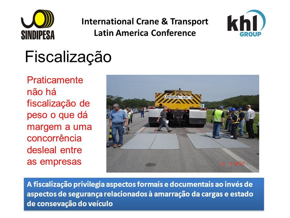 International Crane & Transport Latin America Conference FÁBRICA DE FERTILIZANTES DA PETROBRAS Praticamente não há fiscalização de peso o que dá marge