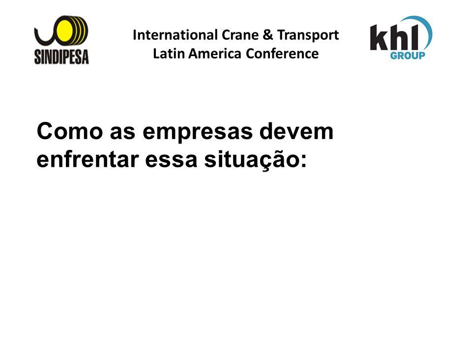 International Crane & Transport Latin America Conference FÁBRICA DE FERTILIZANTES DA PETROBRAS Como as empresas devem enfrentar essa situação: