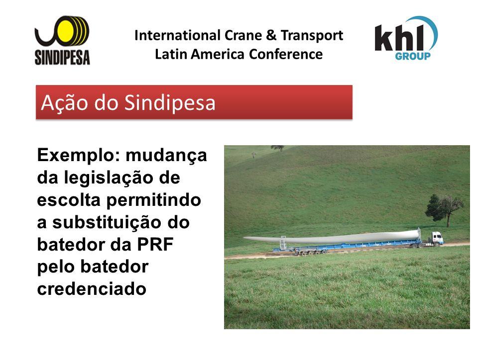 International Crane & Transport Latin America Conference Exemplo: mudança da legislação de escolta permitindo a substituição do batedor da PRF pelo ba