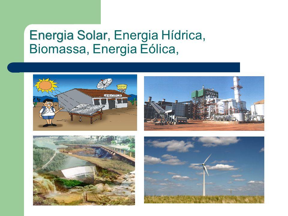 Energia Solar Energia Solar, Energia Hídrica, Biomassa, Energia Eólica,