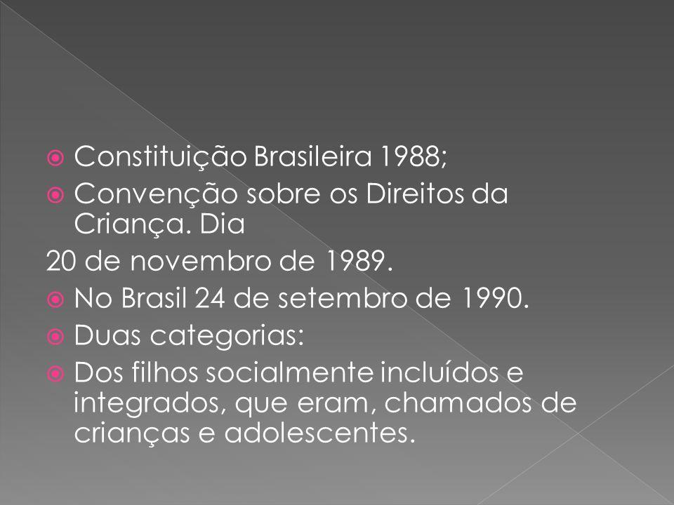 Constituição Brasileira 1988; Convenção sobre os Direitos da Criança.
