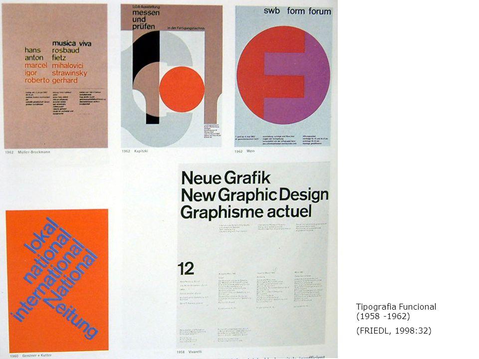 Tipografia Funcional (1958 -1962) (FRIEDL, 1998:32)