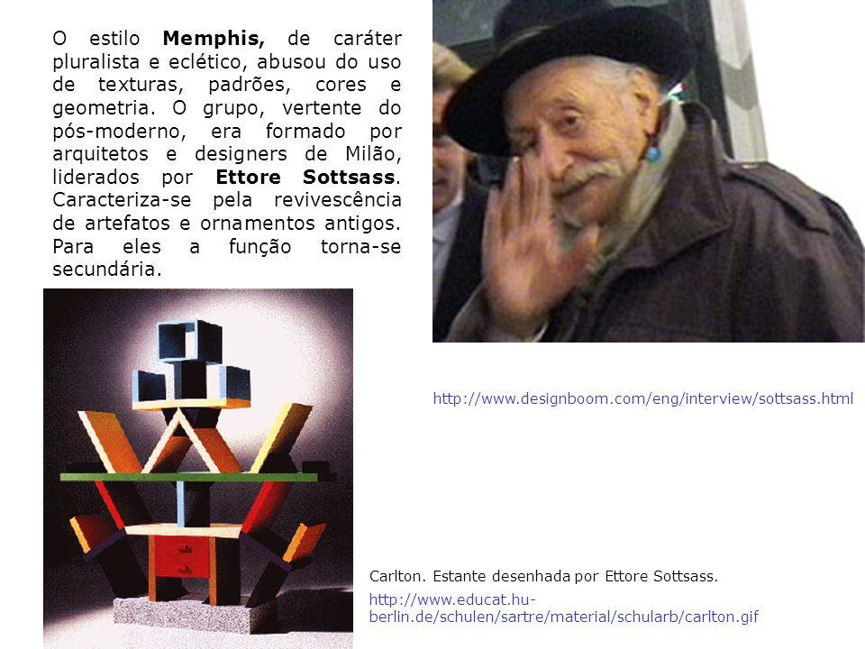 O estilo Memphis, de caráter pluralista e eclético, abusou do uso de texturas, padrões, cores e geometria. O grupo, vertente do pós-moderno, era forma