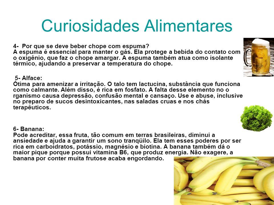 Curiosidades Alimentares 4- Por que se deve beber chope com espuma.