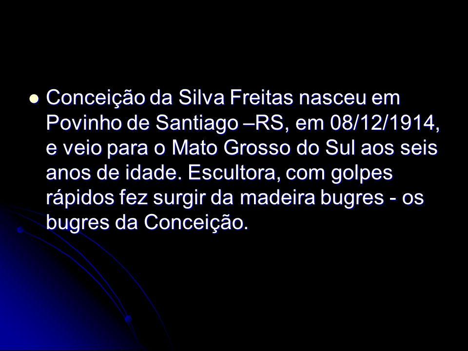 Conceição da Silva Freitas nasceu em Povinho de Santiago –RS, em 08/12/1914, e veio para o Mato Grosso do Sul aos seis anos de idade.