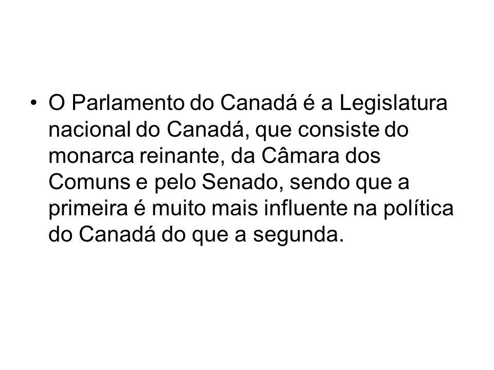 O Parlamento do Canadá é a Legislatura nacional do Canadá, que consiste do monarca reinante, da Câmara dos Comuns e pelo Senado, sendo que a primeira