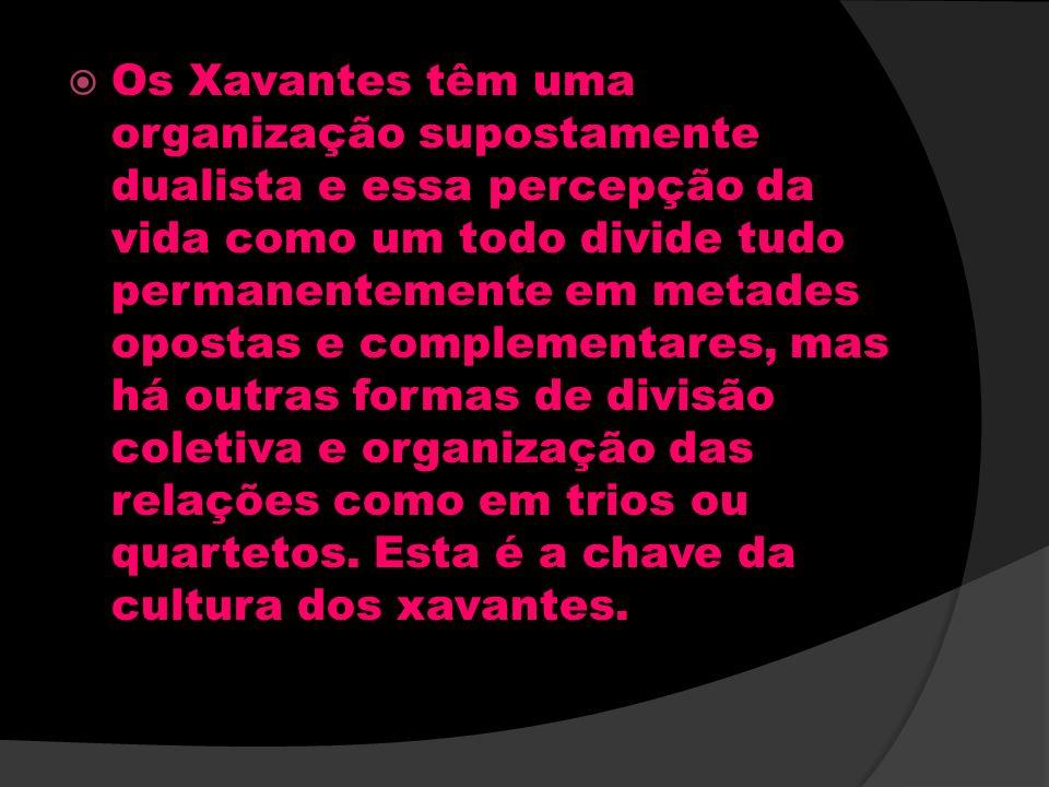 Os Xavantes têm uma organização supostamente dualista e essa percepção da vida como um todo divide tudo permanentemente em metades opostas e complemen