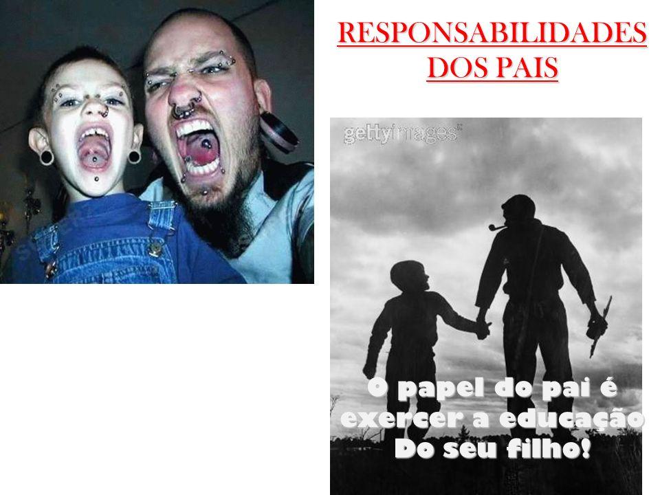 RESPONSABILIDADES DOS PAIS O papel do pai é exercer a educação Do seu filho!