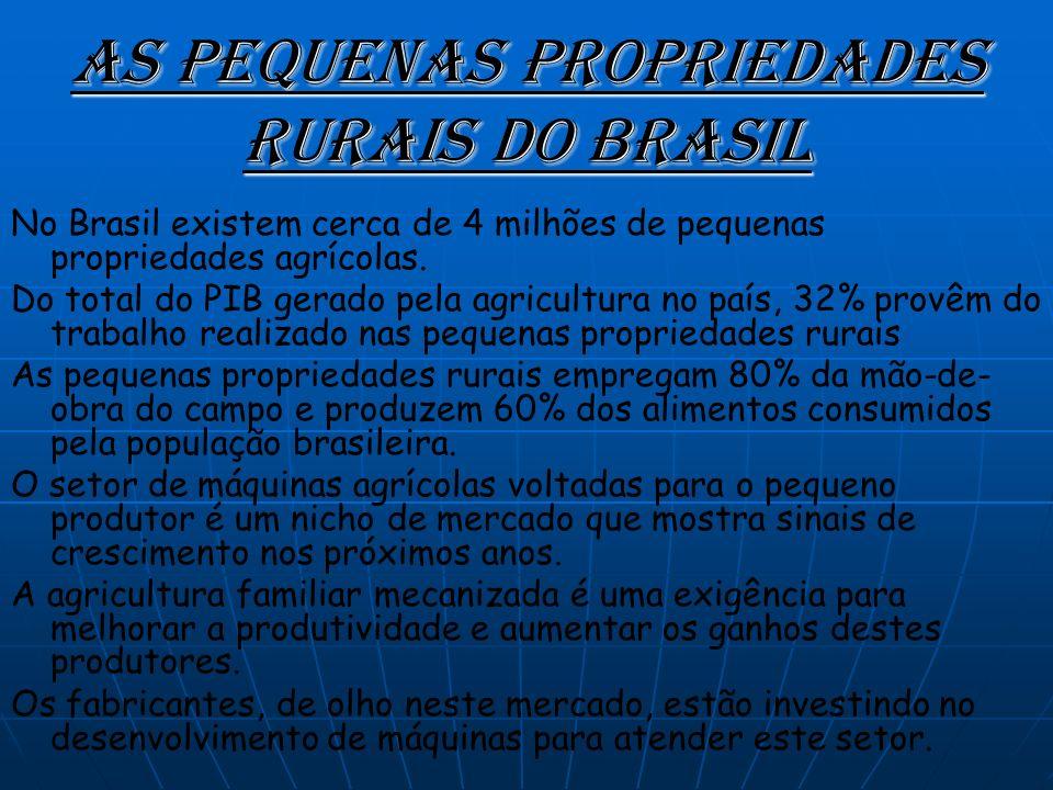As Pequenas Propriedades Rurais do Brasil No Brasil existem cerca de 4 milhões de pequenas propriedades agrícolas.