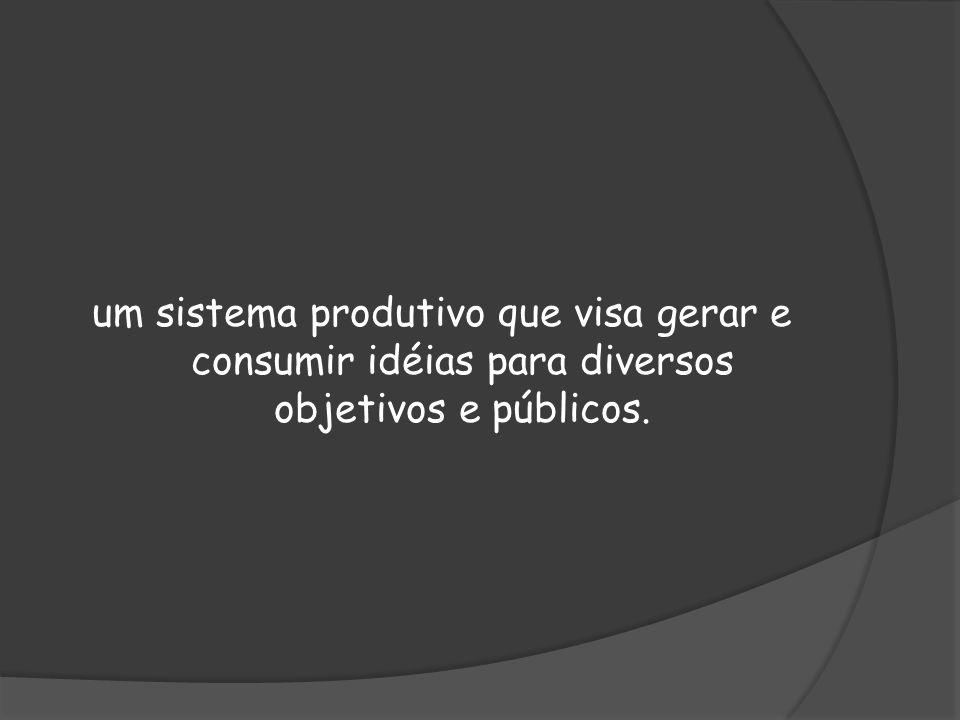 um sistema produtivo que visa gerar e consumir idéias para diversos objetivos e públicos.