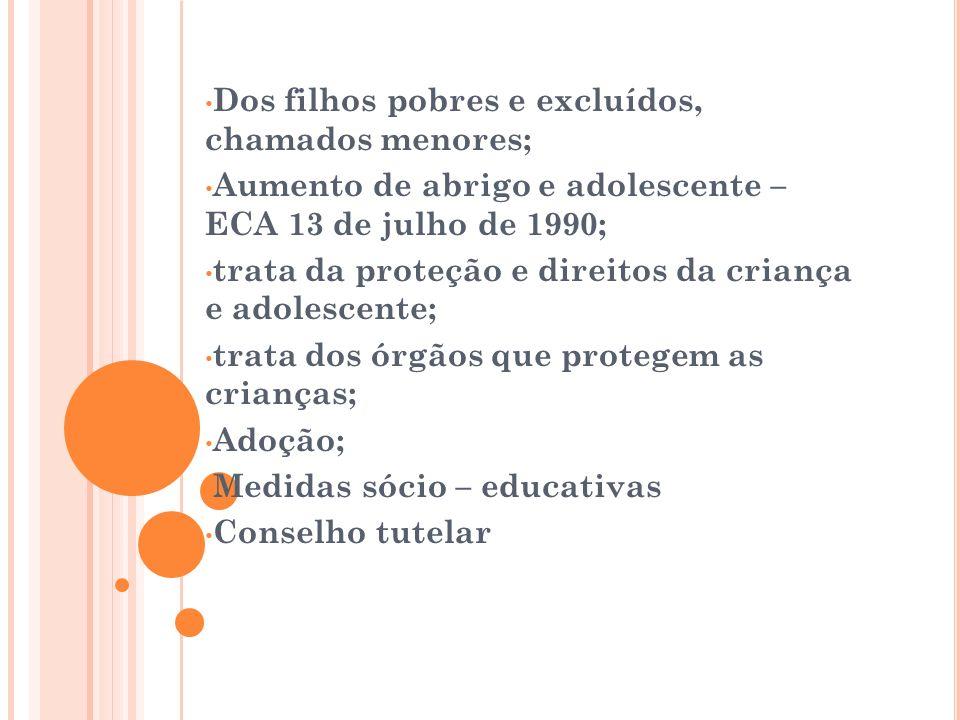 Constituição Brasileira 1988 Convenção sobre os Direitos da Criança. Dia 20 de novembro de 1989. No Brasil em 24 de setembro de 1990. 2 categorias: Do