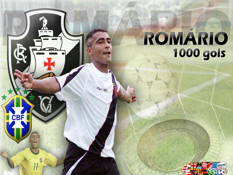 Romário: No Brasil, o craque brilhou no Vasco e no Flamengo, mas também atuou no Fluminense.