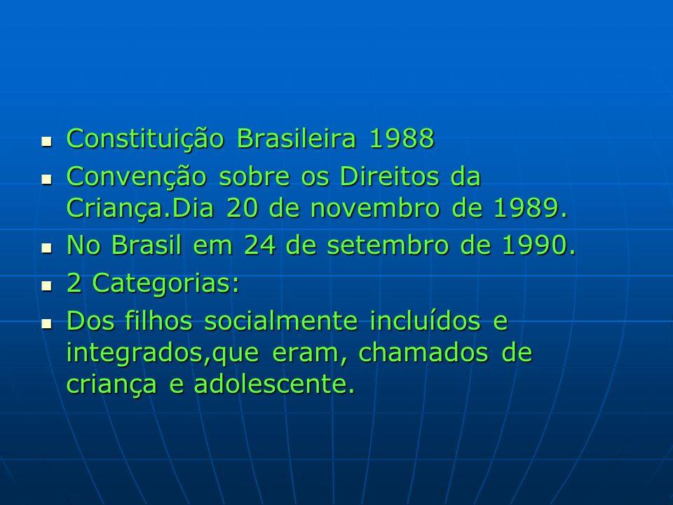 Constituição Brasileira 1988 Constituição Brasileira 1988 Convenção sobre os Direitos da Criança.Dia 20 de novembro de 1989. Convenção sobre os Direit