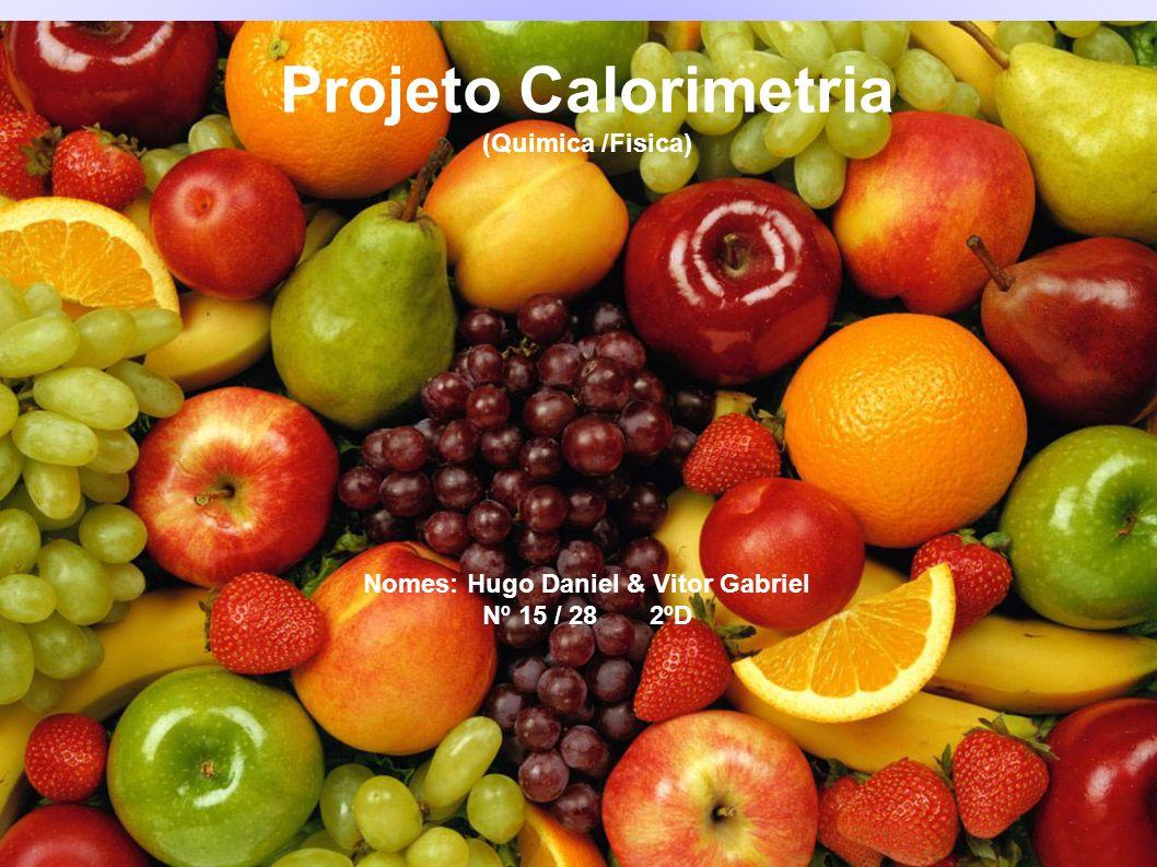 Projeto Calorimetria (Quimica /Fisica) Nomes: Hugo Daniel & Vitor Gabriel Nº 15 / 28 2ºD