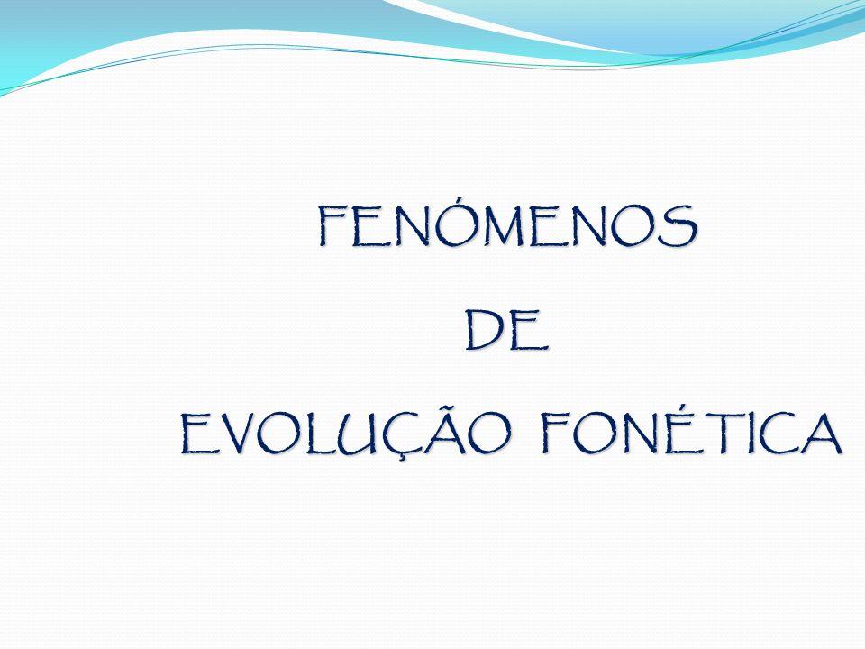 FENÓMENOSDE EVOLUÇÃO FONÉTICA