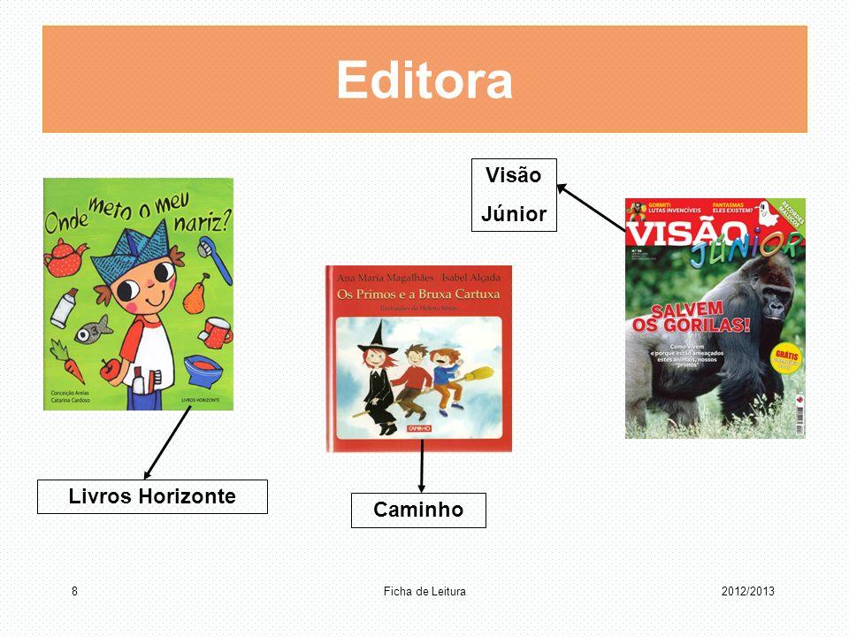 Editora Caminho Livros Horizonte Visão Júnior Ficha de Leitura 82012/2013