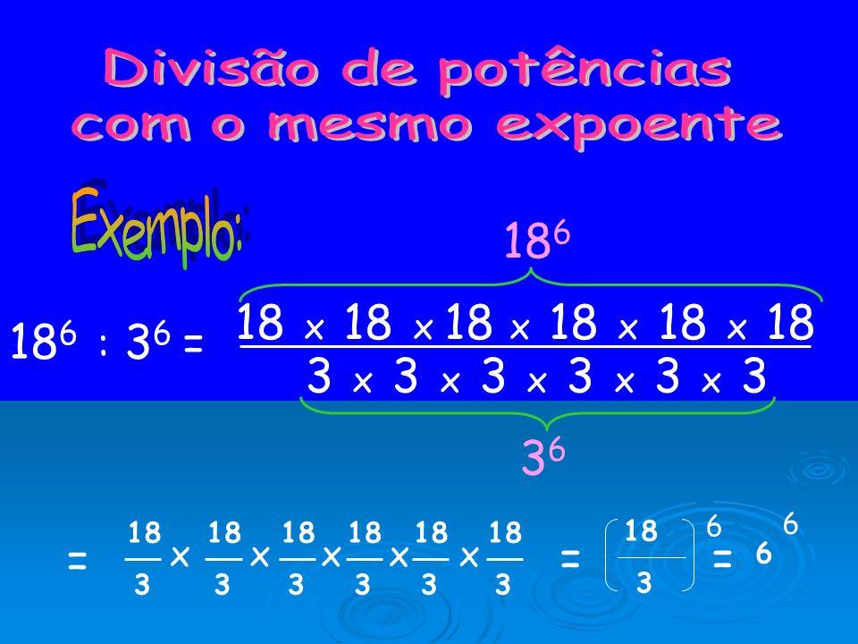 Para multiplicar potências com o mesmo expoente, multiplicam-se as bases e dá-se o mesmo expoente: a n x b n = (a x b) n Então, 2 3 x 4 3 = (2 x 4) 3
