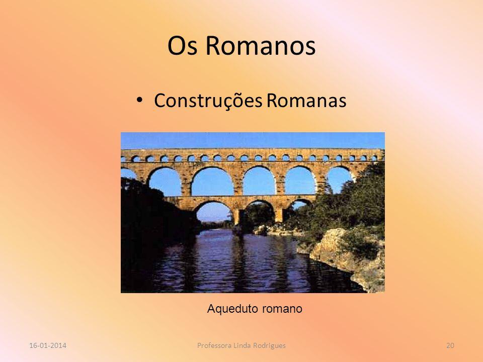 Os Romanos Construções Romanas 16-01-2014Professora Linda Rodrigues20 Aqueduto romano