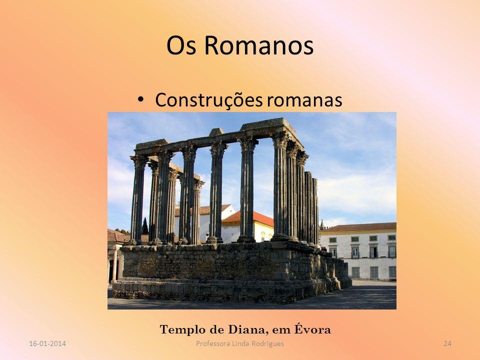 Os Romanos Construções romanas 16-01-2014Professora Linda Rodrigues24 Templo de Diana, em Évora