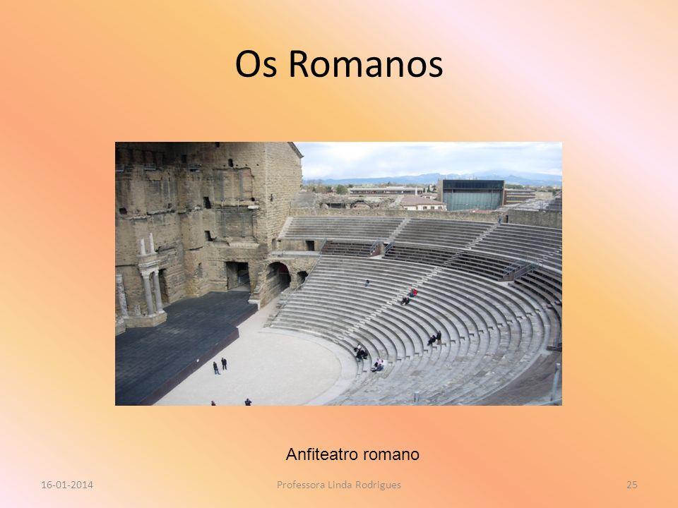 Os Romanos 16-01-2014Professora Linda Rodrigues25 Anfiteatro romano