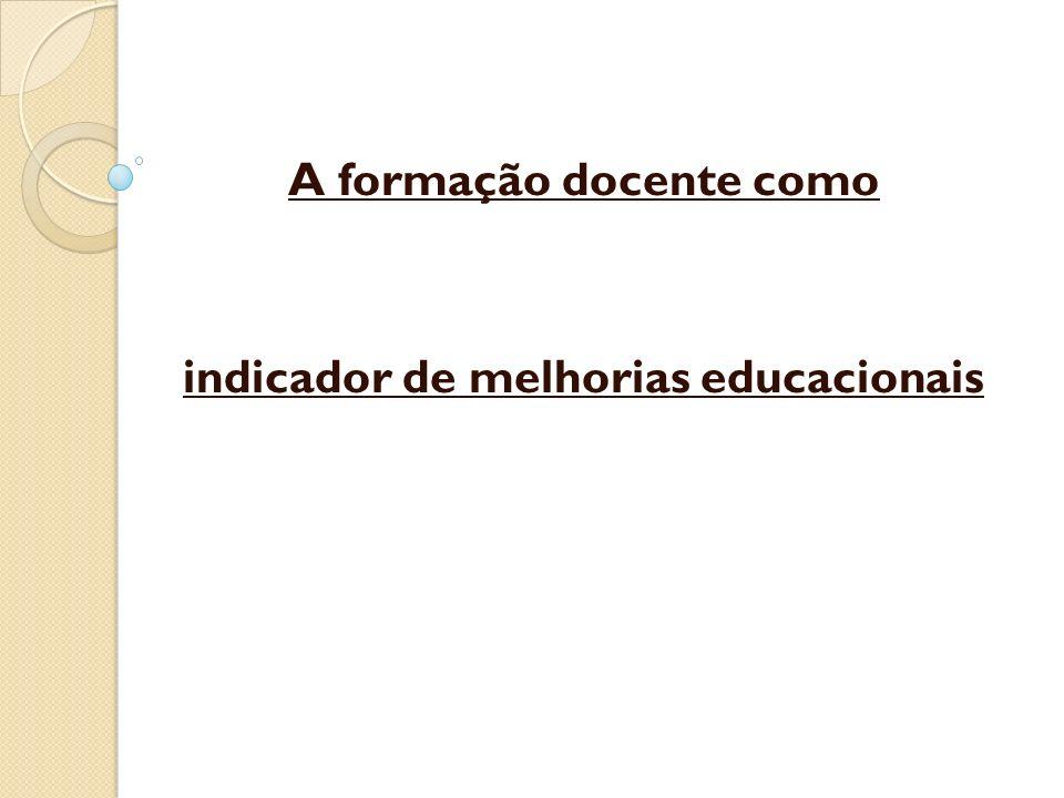 A formação docente como indicador de melhorias educacionais